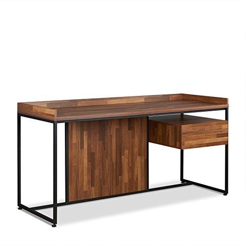 Acme Sara Desk, Walnut & Sandy Black