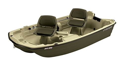 Sun Dolphin Pro Fishing Boat (Cream/Brown, 10.2-Feet)
