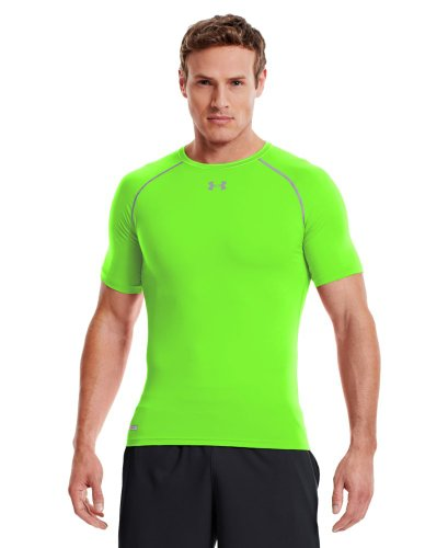 Under Armour Men's HeatGear® Sonic Compression Short Sleeve Large HYPER GREEN
