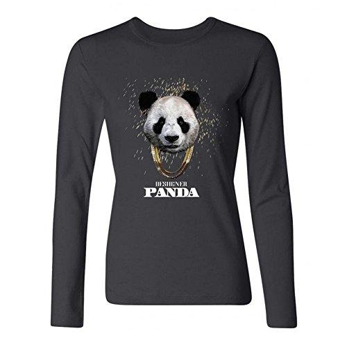 Women's Desiigner Panda DIY Cotton Long Sleeve T Shirt
