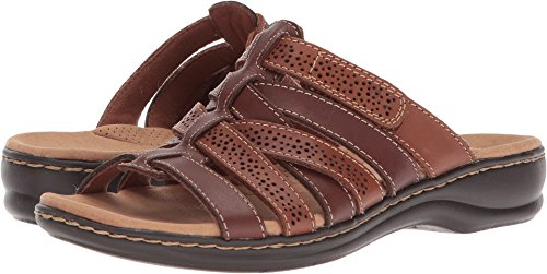 CLARKS Women's Leisa Field Brown Multi Leather 7.5 A (Clarks Un Loop Footwear)
