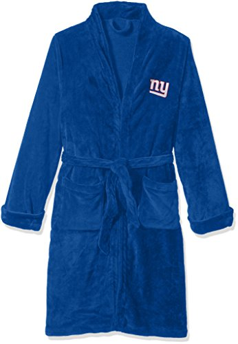 The Northwest Company Officially Licensed NFL New York Giants Men's Silk Touch Lounge Robe, Large/X-Large