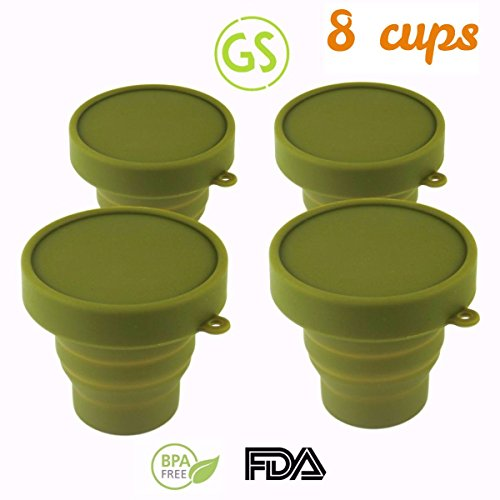 - Gouda Select Set of 8 Collapsible Army Cups - Light and Small - Easy to Carry - 170 ML