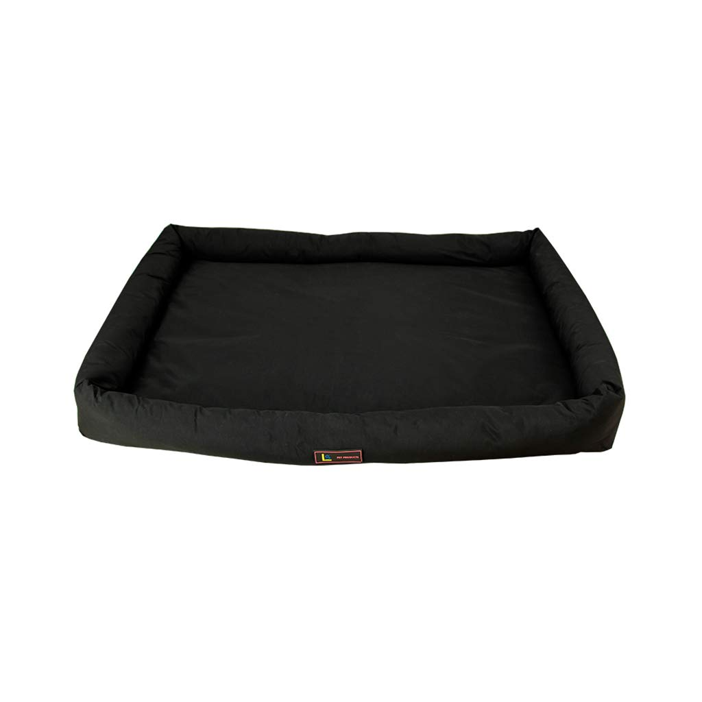 Nylon Black 56x45x5cm Nylon Black 56x45x5cm PLDDY Pet Nest Dog Mat Non-Stick Hair Bite Resistant Dirt Waterproof Washable Oxford Nylon Material Four Seasons General Teddy golden Hair Small Medium and Large Dog Kennel
