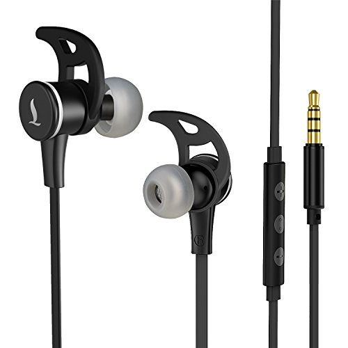 In-Ear Earbud Headphones, LEVIN Ergonomic Comfort-Fit Stereo Headset, Wired Control Cable Clip...