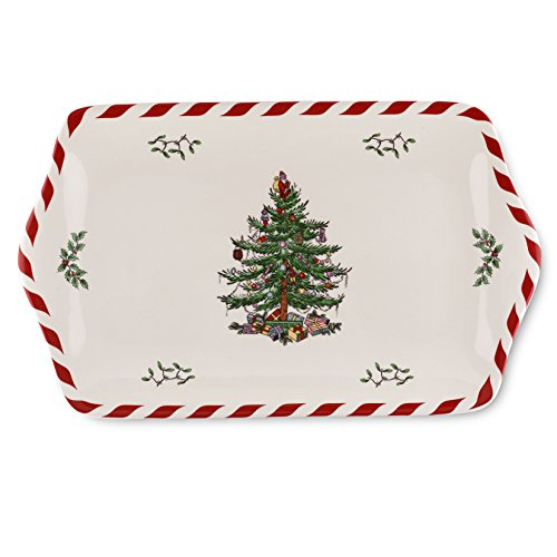 Spode Christmas Tree Peppermint Dessert Tray (Dishes Serving Christmas)