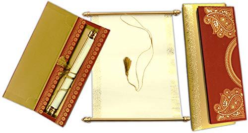 (Wedding Card Indian Card Designer Invitation (S1069))