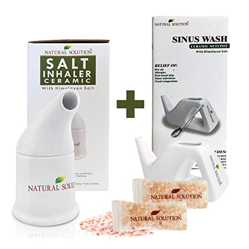 Natural Solutions Himalayan Pink Salt Inhaler,Therapy Inhaler for Asthma and Allergies by WBM by Natural Solution
