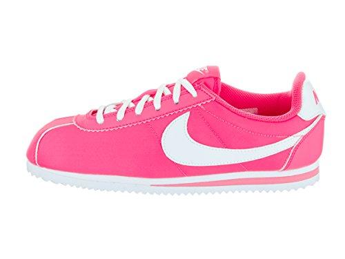 Nike Cortez Nylon (Gs), Zapatillas de Running para Niñas Rosa / Blanco (Hyper Pink / White)