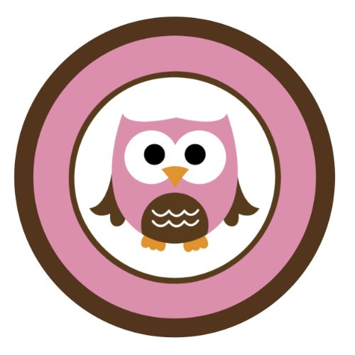 Baby Owls {Pink & Brown} Edible Cake Topper Decoration