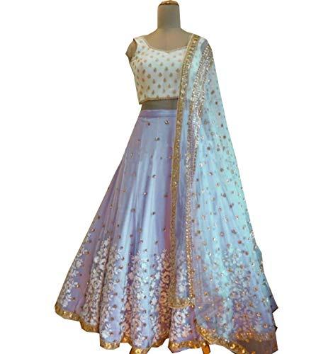 Exclusif Amit Femmes Choli Pour Stitch Indien Fashions Semi Designer Lehenga ttxTq4rCW