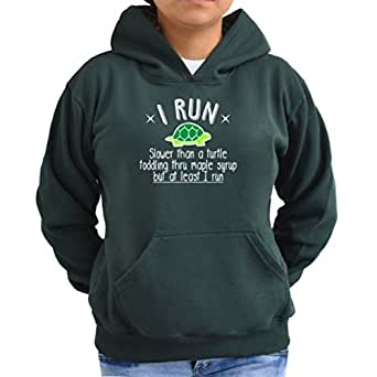 I run slower than a turtle but I run Women Hoodie