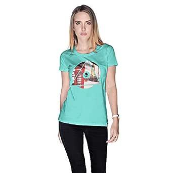 Creo London Underground T-Shirt For Women - M, Green