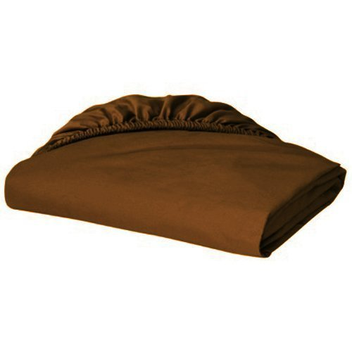 Scala Hotel Design Thread Count 650 Egyptian Cotton Twin XL 1 Piece fitted sheets Only ( Bottom Sheets) Solid Deep Pocket 12 Inches Chocolate