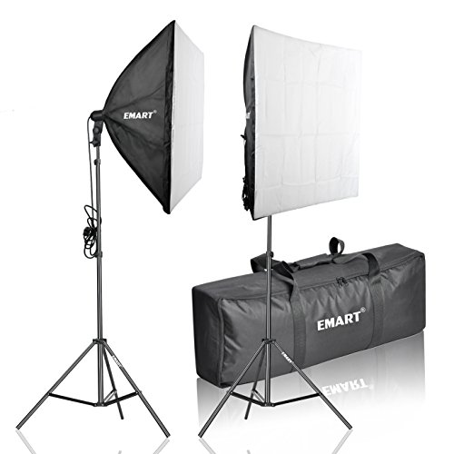 Emart 105W Professional Photography 24x24 Inches Softbox Continuous Lighting Studio Portrait Kit (Gold Twin Octagon Ring)