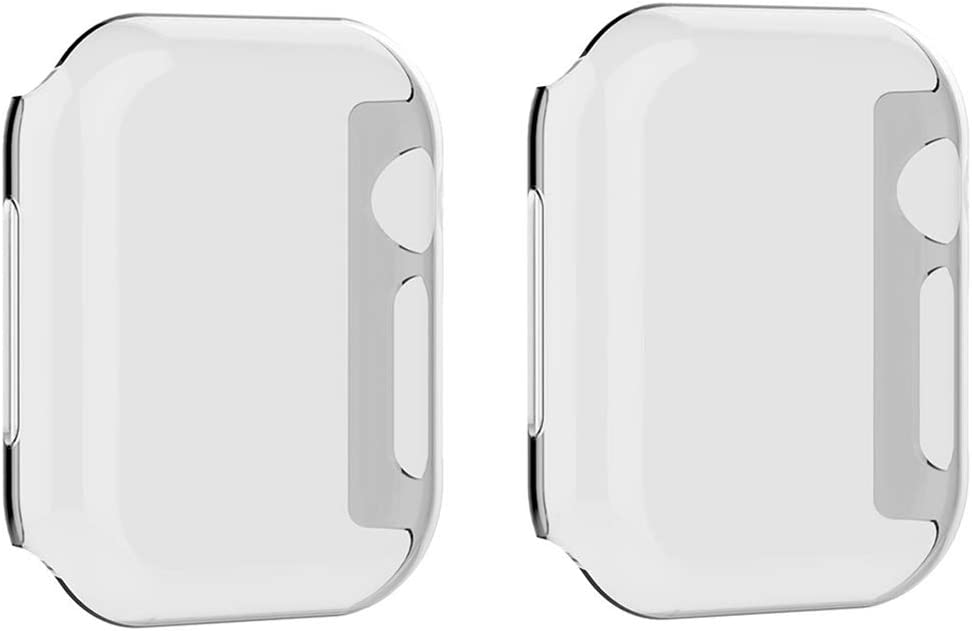 Clear Screen Protector Case for Apple Watch Series 3 Series 2 38mm Ultra-Thin All Around Protective Case with Buit in TPU Cover for Watch Series 3/2