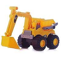 Creshion Kid ToyDurable Truck Series Bulldozer Dump Truck Excavator Kid Toy Children Large Machineshop (Excavator)