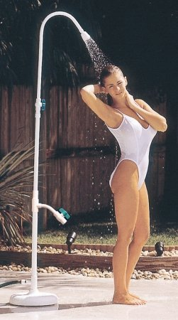 Outdoor Lamp Company Poolside Portable Power Shower with Foot ()