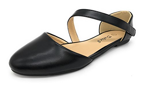 Blue Berry Easy21 Womens Casual Flats Ballet Cinturino Alla Caviglia Fashion Shoes Black74