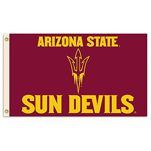 NCAA Arizona State Sun Devils Flag with Grommets, 3 x 5-Feet, Team Color