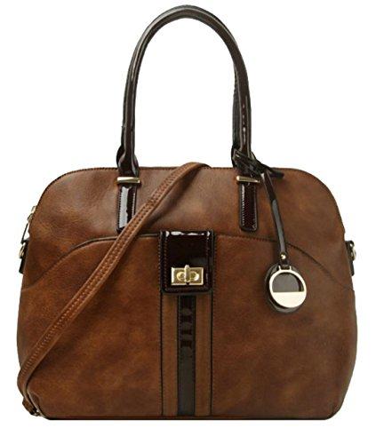 Bolso Mujer Mano De Girly Handbags Marrón 4nwAB58vqx