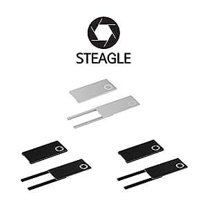 STEAGLE steagle1.0Tres Pack (Negro x 2ea, Plata X 1ea)–Cubierta de cámara Web para privacidad portátil