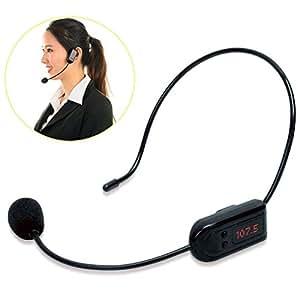 fm wireless microphone headset system voice amplifier megaphone mic for teacher. Black Bedroom Furniture Sets. Home Design Ideas