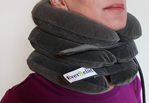 EverRelief Cervical Neck Traction Device FDA Registered ✮ Inflatable & Adjustable Neck Stretcher Collar for Home Traction Spine Alignment by EverRelief (Image #5)