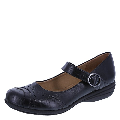 Predictions Comfort Plus by Women's Black Geanette Mary Jane 11 Wide - Comfort Wide Shoes