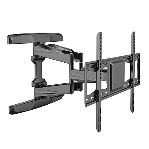 (Loctek L5L TV Wall Mount Bracket for 42-70 inch TV with Articulating Arms Full Motion swivel tilt Function Weighing up to 99lbs and Max VESA 600x400)