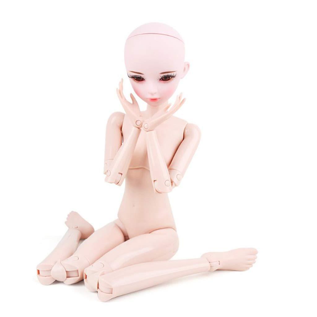 FLAMEER 1 1 1 3Weibliche Modepupp Normaler Hautton 23 Gelenke Nacktes Körper mit Flugbegleiterin Uniform Anzug Cosplay Kostüm Spielzeug Set 0358ad