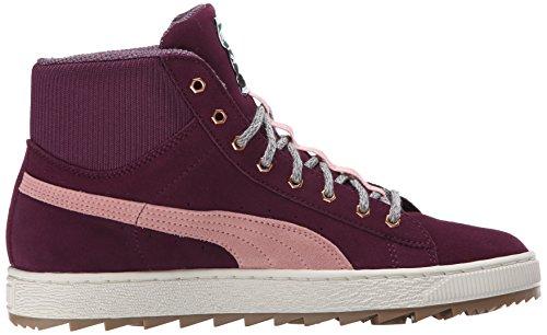 Puma Klassiker Ruskind Mode Sneaker Italiensk Blomme / Koral Sky Lyserød upTh8o