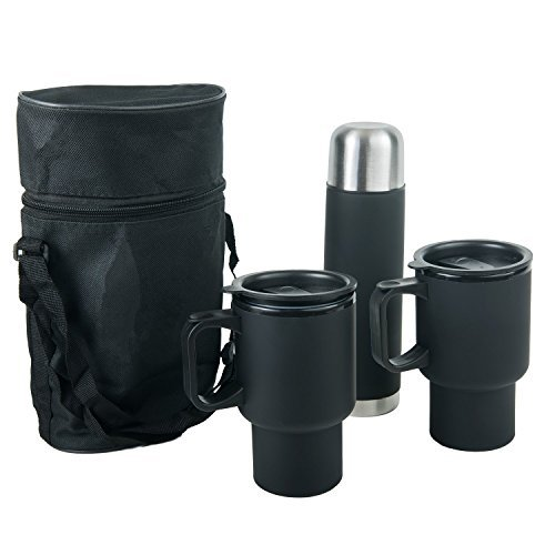 4 Piece Stainless Steel Mug Set | Great for Traveling