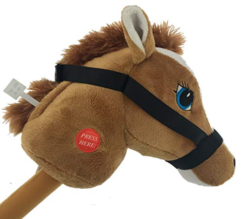(YMCtoys My First Horse, 29 Inch Stick Horse, Giddy-up and Go Pony w/ Real Sound - Light)