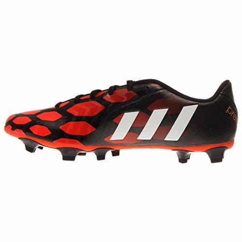 New Adidas Mens Predito Instinct Fg Tacchette Da Calcio Nero / Bianco / Rosso Solare 12