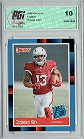 cf7450ed0 Christian Kirk 2018 Donruss Rated Rookie  RR17 1988 SP Rare Rookie Card PGI  10