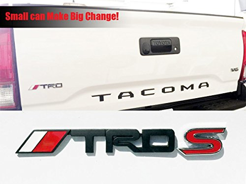 Deselen 4runner,Yaris,Camry Tacoma Toyota TRD Car Emblem Chrome Stickers Decals Badge Labeling for Fj Cruiser Black Supercharger Pack of 2 Tundra LP-BS10A