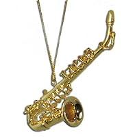 "Adorno de Navidad de saxofón miniatura 3.25 """