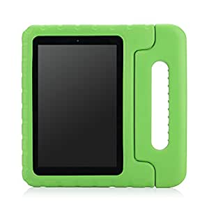 MoKo Case for Fire HD 7 2014 - Kids Shock Proof Convertible Handle Light Weight Protective Stand Cover for Amazon Kindle Fire HD 7 Inch 4th Generation Tablet (NOT Fits Fire 7 2015 Release), GREEN