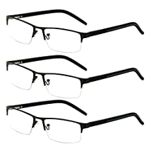 Zhhlinyuan 3 Pairs of Vintage Men Women Frame Presbyopic Mirror Reading Glasses