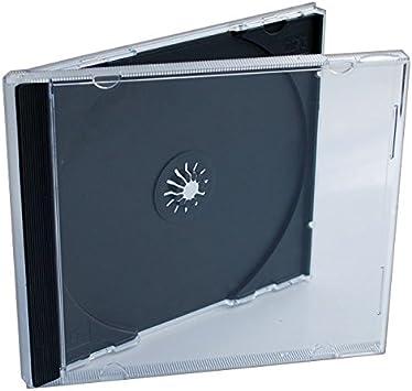 MasterStor - Estuche para CD/DVD (10,4 mm, con bandeja negra para guardar folletos en la tapa): Amazon.es: Electrónica