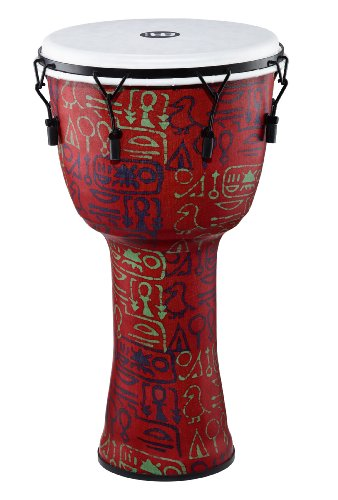 Meinl Percussion PMDJ1-XL-F Extra Large Mechanically Tuned Travel Series Djembe with Synthetic Shell and Head, Pharaoh's Script by Meinl Percussion