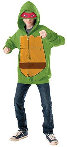 Boys Mnt Raphael Hoodie Kids Child Fancy Dress Party Halloween Costume, M (8-10) - Raphael Hoodie Kids Costumes