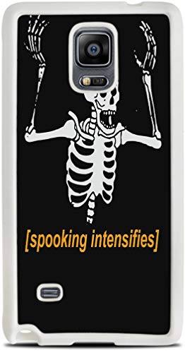 Spooking Intensifies Skeleton White Silicone Case for Galaxy Note 4 by egeek amz]()