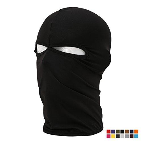 Breathable & Elastic Lycra Balaclava Sun Protective Cycling Face Mask Windproof Ski Mask Outdoor Motorcycle Face Mask Riding Headgear, Black