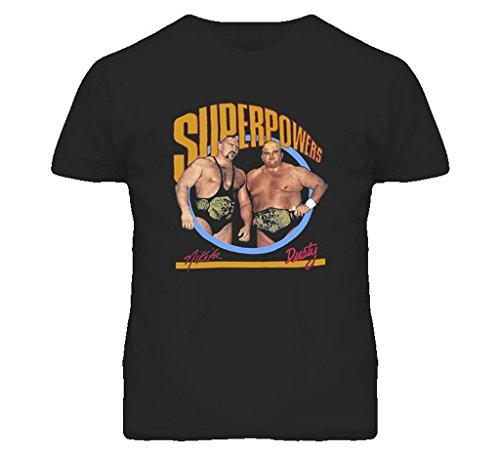 Dusty Rhodes Nikita Koloff WCW Wrestling T Shirt XL Black by The Village T Shirt Shop