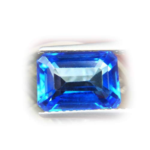 Lovemom 3.52ct Natural Octagon Coating Blue Topaz Brazil #R