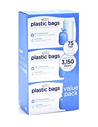 Ubbi Plastic Bags,  75 - Pack, 3 - Count BOBEBE Online Baby Store From New York to Miami and Los Angeles
