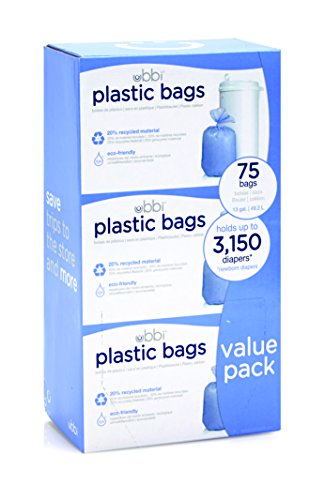 Large Product Image of Ubbi Plastic Bags,  75 - Pack, 3 - Count