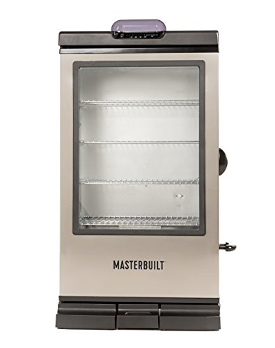 Masterbuilt MB20076718 Bluetooth Electric Smoker 240G Digital, Black with SS Door